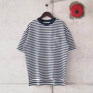 SUNNY SPORTS〈サニースポーツ〉 BORDER POCKET TEE (sn16s037) OFF×NAVY