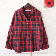 【SALE】【women】a piece of Library〈ピースオブライブラリー〉 フォークナーシャツ (No.414312) RED