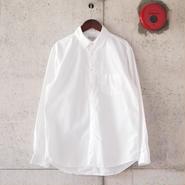 Manual Alphabet〈マニュアルアルファベット〉 LOOSE FIT レギュラーカラーシャツ WHITE