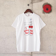 【unisex】FRUIT OF THE LOOM〈フルーツオブザルーム〉 FRUIT PARLOR ART PROJECT - 金井 淳 WHITE