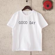 【unisex】SEIRYU & Co.〈セイリューアンドコー〉 GOOD DAY Tシャツ WHITE