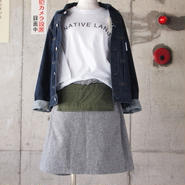 【women】Ordinary fits〈オーディナリーフィッツ〉 APRON SKIRT GREY