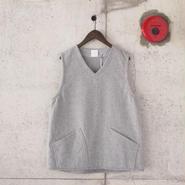 5W〈ゴワット〉  Goun Vest / Melton  GREY