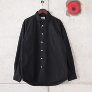 Manual Alphabet〈マニュアルアルファベット〉 LOOSE FIT レギュラーカラーシャツ BLACK