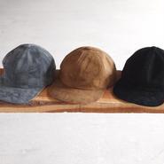 morno〈モーノ〉 SUEDE B.B. CAP GREY/BEIGE/BLACK