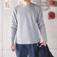 UNION MADE〈ユニオンメイド〉 THERMAL CREW NECK GREY/OLIVE/WHITE