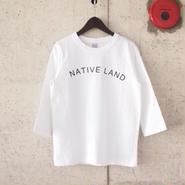 【women】a piece of Library〈ピースオブライブラリー〉 NATIVE 7分袖 Tee (No.216302) WHITE