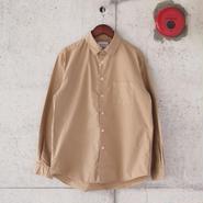 Manual Alphabet〈マニュアルアルファベット〉 LOOSE FIT レギュラーカラーシャツ CAMEL