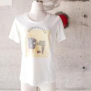 【SALE】【women】BLURHMS〈ブラームス〉 Parody TeeパロディTシャツ Off White
