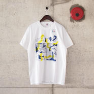 【unisex】FRUIT OF THE LOOM〈フルーツオブザルーム〉 FRUIT PARLOR ART PROJECT - face WHITE