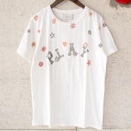 【SALE】NaRy〈ナリー〉 PLAY FLOWER S/S TEE・Tシャツ OFF WHITE