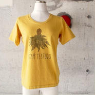 【SALE】【women】BLURHMS〈ブラームス〉 Fictional Frower TeeフラワーTシャツ D.Yellow