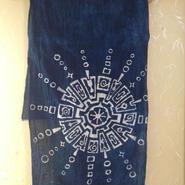 藍染め手ぬぐい 太陽曼荼羅