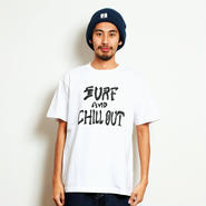 イーブンフロウ サーフ アンド チルアウト Tシャツ     #ホワイト