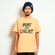 イーブンフロウ サーフ アンド チルアウト Tシャツ     #オレンジ
