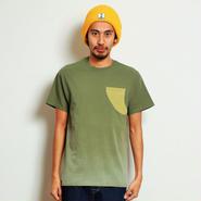 イーブンフロウ フィン ポケット Tシャツ #グリーン