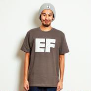 イーブンフロウ ブロック EF ロゴ Tシャツ #チャコール