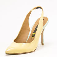 V-CUT SLINGBACK YELLOW 70%OFF