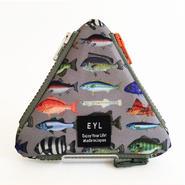 "EYL triangle coin purse ""Fish Book"""