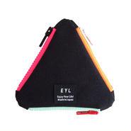 EYL triangle coin purse Black