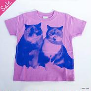 【SALE】なかよし親子キッズTシャツ(ラベンダー)