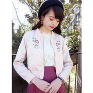 ローズ刺繍サテンブルゾン/F i.n.t