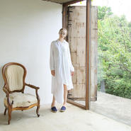 bedsidedrama かけ違いのシャツドレス(WHITE)