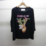 bedsidedrama F/O/L ワイドTシャツ(black)
