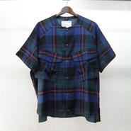 JUVENILE HALL ROLLCALL 半袖チェックシャツ