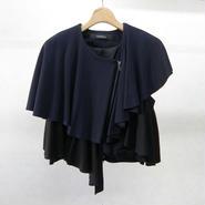SHIROMA ruffle knit jacket