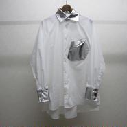 BALMUNG スラッシュポケットシャツ シルバー
