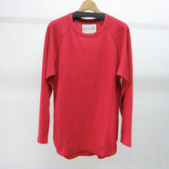 banal chic bizarre ワッフルロングシャツ(red)