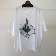 BALMUNG プリントビッグTシャツ 半袖(白・律音)