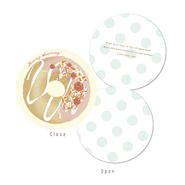 メッセージカード SWEETS BOX ミント/ドーナツ