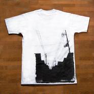 Tシャツ ある町にて 白 / グレー / 水色
