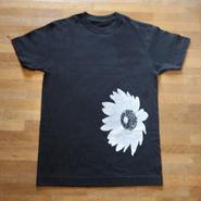 Tシャツ 向日葵 黒