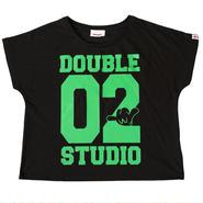 (Wstudio)  02LOGO  DOLMAN ブラック/グリーン
