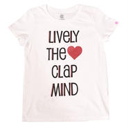 (CLAP)  LIVELY  THE  CLAP  MIND  Tee  ホワイト