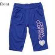 (CREAM  CLOTHING)  baseball  ベルクロップパンツ ロイヤルブルー