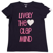 (CLAP)  LIVELY  THE  CLAP  MIND  Tee  ネイビー