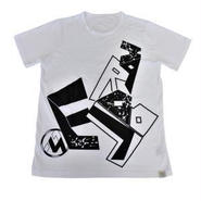 (Marble)  ユニセックス Tシャツ ホワイト