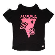 (Marble) レディース オープンオフショルダー(ブラック)