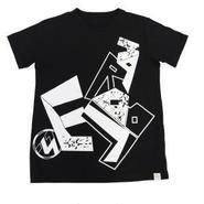 (Marble)  ユニセックス Tシャツ ブラック