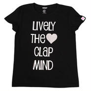 (CLAP)  LIVELY  THE  CLAP  MIND  Tee  ブラック