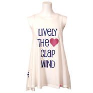 (CLAP)  LIVELY  THE  CLAP  MIND  DRAPE  TUNIC  TANK  ホワイト