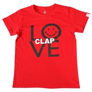 (CLAP)  LOVE-nicoooo  Tee レッド