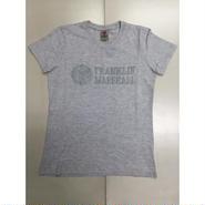(FRANKLIN&MARSHALL)  ロゴラメTシャツ ライトグレー