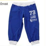 (CREAM  CLOTHING)  American  college  ロゴロッティクロップドパンツ ロイヤルブルー