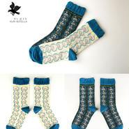 クリボテラ azami socks Dark gray