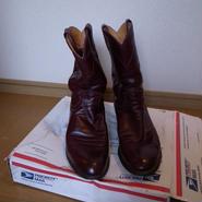 Justin roper boots style3037 サイズ7E used ウェスタンブーツ